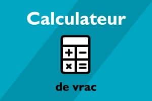 Calculateur de vrac